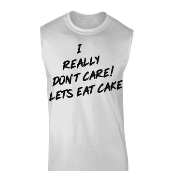 Funny Melania Satire Let Them Eat Cake Muscle Shirt  by TooLoud