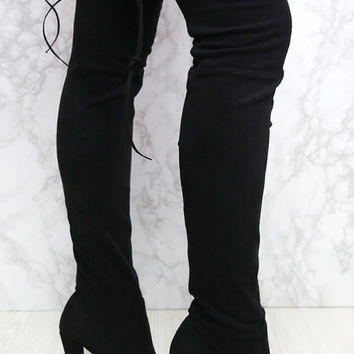Lipstik Shoes - Skarlett Boot - Black Micro