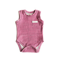Organic Tank Bodysuit in Cranberry Plum
