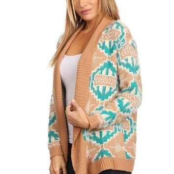 Oversize Tribal Cardigan