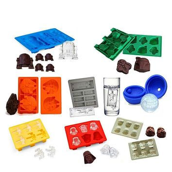 Star Wars Ice Tray Silicone Mold Ice Cube Tray Chocolate Mould Death Star Darth Vader R2D2 Hans Solo Falco