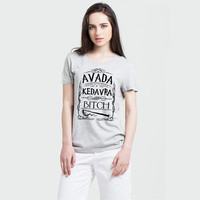 Unique Men Harry Potter Spell Avada Kedavra T Shirt Short Sleeve Female T Shirt Fashion Avada Kedavra Lady T-shirts