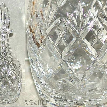 Royal Doulton (Webb Corbett) Georgian Pattern Crystal Cut Glass Wine Decanter c1980's (ref: 3157)