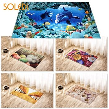 Autumn Fall welcome door mat doormat 3D Modern Soft Carpet Protector Heavy Clear s Rug Bathroom Kitchen Hot AT_76_7