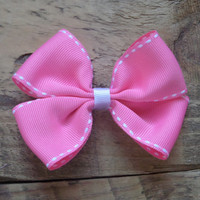 "Pink hair clip, baby girl, toddler, little girl, "" I'm Boweautiful"", Hair Clip, Hair Accessories, Alligator Clip, hair bow"