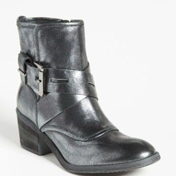 Donald Pliner Silver DIEM Pewter Metallic Buckle Ankle Boots Size 9.5