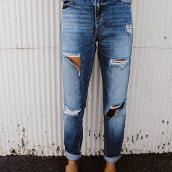 Reagan Denim Boyfriend Jeans