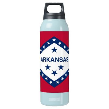 Arkansas State Flag 16 Oz Insulated SIGG Thermos Water Bottle