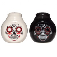 Sourpuss Sugar Skull Salt & Pepper Shakers