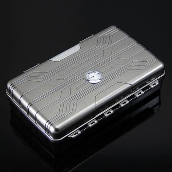 High-end Cigar Travel Humidor Case with Luxurious Lighter Set