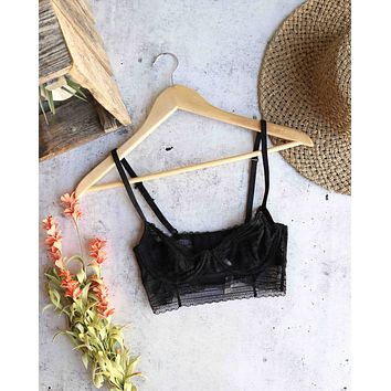 Free People - Intimately FP Sorento Longline Underwire Demi Bra - black