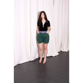 Forest Green High Rise Shorts / L
