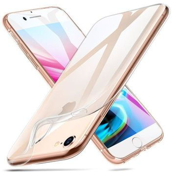 LMFGQ6 iPhone 8 Case, iPhone 7 Case, ESR iPhone 8 Clear Soft TPU Cover [Support Wireless Charging] for Apple 4.7' iPhone 8 (2017 Release)/ iPhone 7 (2016 Release)(Clear)