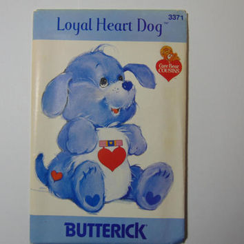 Butterick 3371 Loyal Heart Dog Care Bear Cousin Sewing Craft Doll Pattern UNCUT