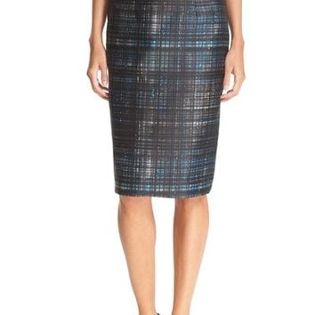 Milly Confetti Check Pencil Skirt | Nordstrom