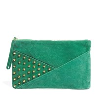 Minkpink Be Prepared Stud And Seam Detail Leather Clutch at asos.com