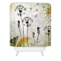 Iveta Abolina Little Dandelion Shower Curtain