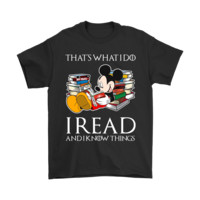 QIYIF Mickey Mouse That's What I Do I Read And I Know Thing Shirts