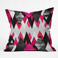 Elisabeth Fredriksson Pink Peaks Throw Pillow