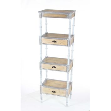 Sturdy metal wood storage shelf