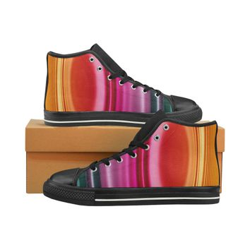 colorful High Top Canvas Women's Shoes/Large Size (Model 017) | ID: D2691435