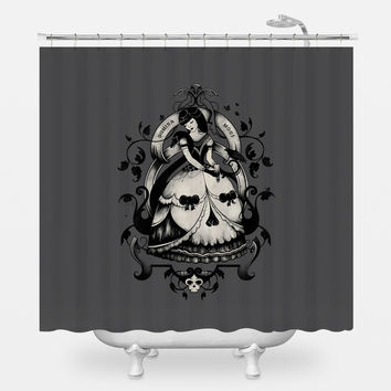 Domina Mori Dark Shower Curtain