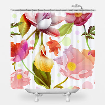 Water Lotus Shower Curtain