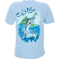 Salt Life Men's Aloha Marlin Short Sleeve T-shirt