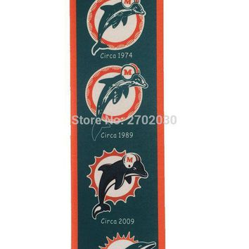 PEAPON Miami Dolphins Baseball Team San Francisco Giants Rectangle Heritage Flags Banners With String Felt Pennats 20*81cm