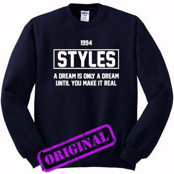 Harry Styles quote for Sweater navy, Sweatshirt navy unisex adult