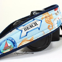 dSLR Camera Strap, Beach, Blue, Ocean, dSLR, SLR