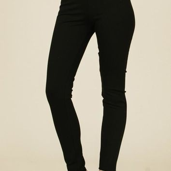 High Waisted Ponte Leggings - Black