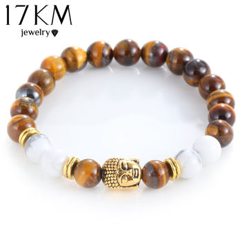 Tigers Eye Bracelet with Buddha Charm