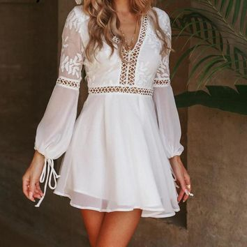 Rosaleena Detailed Boho Dress