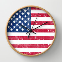 Vintage USA Flag Wall Clock by RexLambo