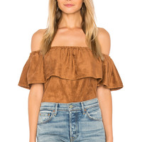 cupcakes and cashmere Jennings Top in Butterscotch | REVOLVE