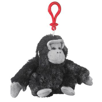 "Wildlife Tree 4"" Gorilla Stuffed Animal Clips for Kids Backpack Toy"