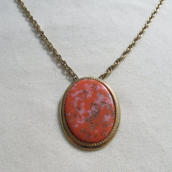 SARAH COVENTRY 1960s-70s Medallion Necklace/Pin
