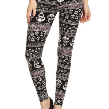 Sinful Skull Printed Leggings