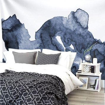 Ride The Wave Fabric Wall Tapestry