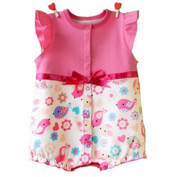 2017 baby clothing summer newborn designer baby clothes girls dress infant romper baby one piece bowknot jumpsuit climb clothes