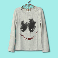 30% OFF for Xmas CODE:77585211 --Batman the Joker  face  Movie T-shirt Long sleeved
