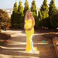Aphrodite Maternity Gown, Mermaid Gown, Maternity Photography Prop, Maternity Prop, Maternity Dress,  Belly Dress, Gown with a train
