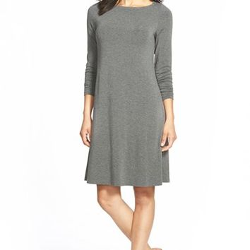 Women's Eileen Fisher Bateau Neck A-Line Jersey Dress,