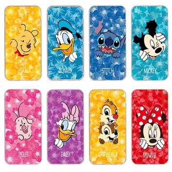 Cute Cartoon Mickey Minnie Mouse Phone Cases For iphone 6s plus Flower Transparen Soft Silicone Case For iphone 8 8plus 7 7plus