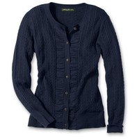 Eddie Bauer Ruched Cable Cardigan $29.99