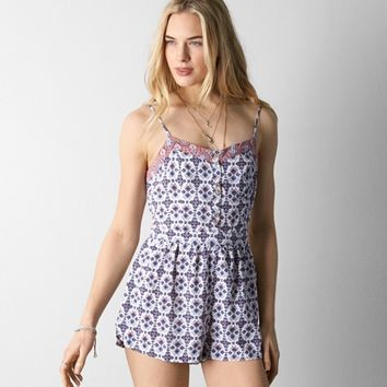 222df52bc2bc AEO BOHO PRINTED ROMPER from American Eagle Outfitters