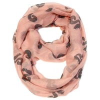 Pink Infinity Scarf - Squirrel Print