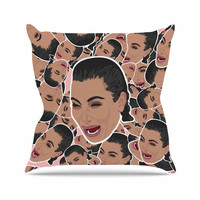 "Juan Paolo ""First World Problems"" Celebrity Funny Outdoor Throw Pillow"