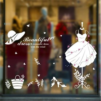 adhesive goddess of new clothes white environmental wall stickers for window glass